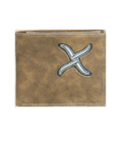 TWISTED X RODEO WALLET BI FOLD - STYLE #XRC-B4 - TAN/SILVER