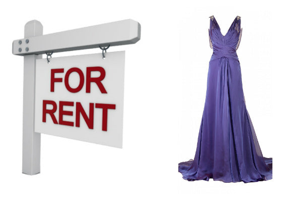 Rent a dress for a one off look
