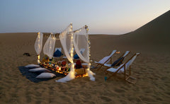 romantic private dinner in the desert dubai