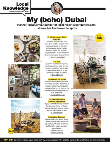 Whats on Dubai Hanne Ripsaluoma's Boho Spots in Dubai