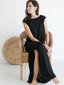 sustainable recycled polyester t-shirt maxi dress Dubai