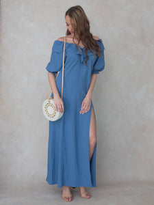 Hawaii - maxi dress - blue