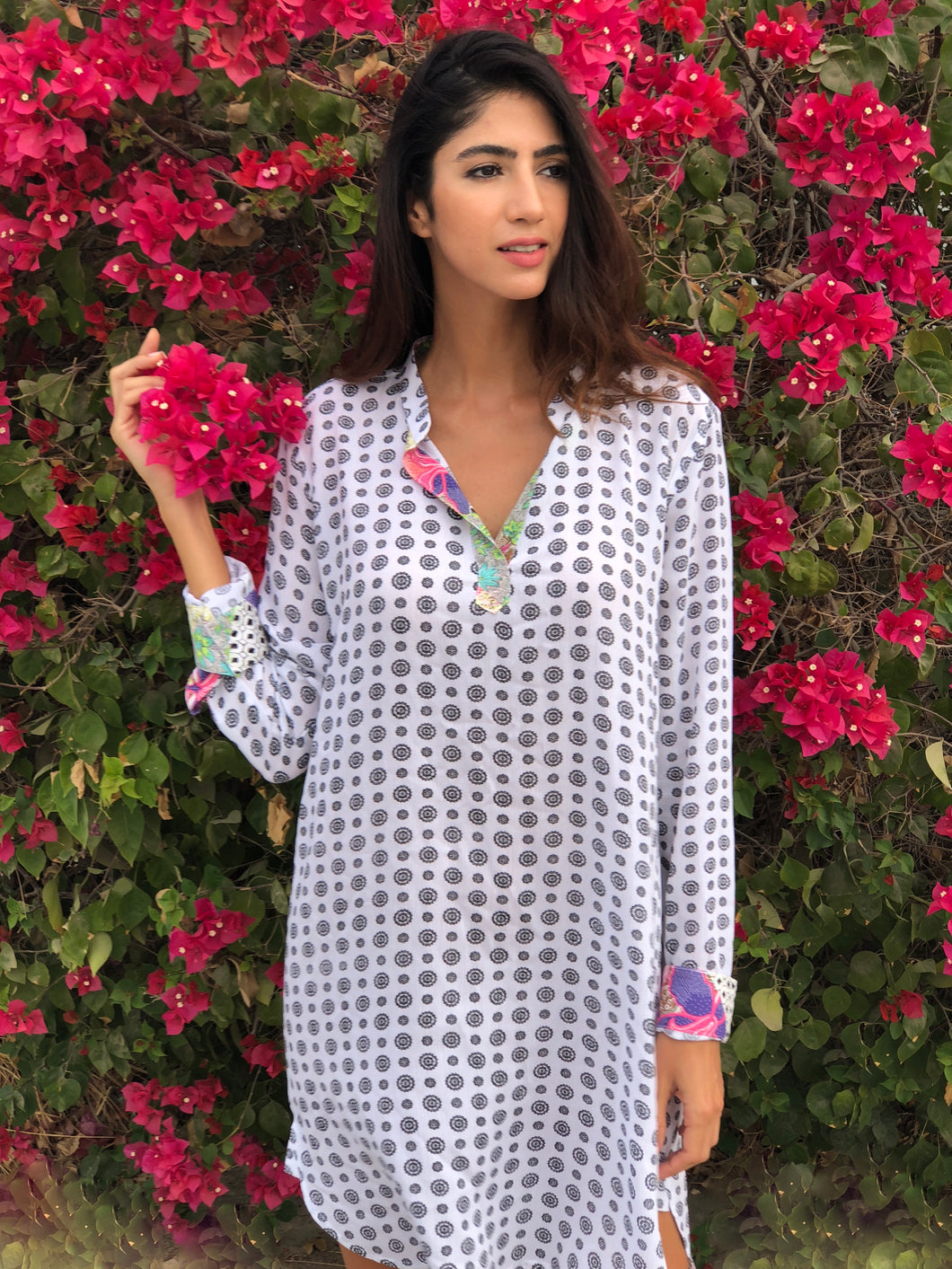 Sorrento shirt dress by Dunesi