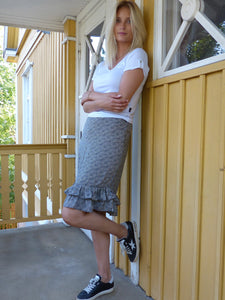 Capri - midi skirt - black and grey