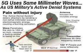 5G Millimeter waves used as a weapon by the military