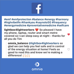 Omnia Radiation Balancer Facebook Testimonial 2