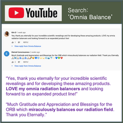 Omnia Radiation Balancer YouTube Testimonial
