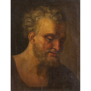 17th-Century 'Modello' Portrait Of A Philosopher - Original Framed Painting - Antique Art - Brave Fine Art