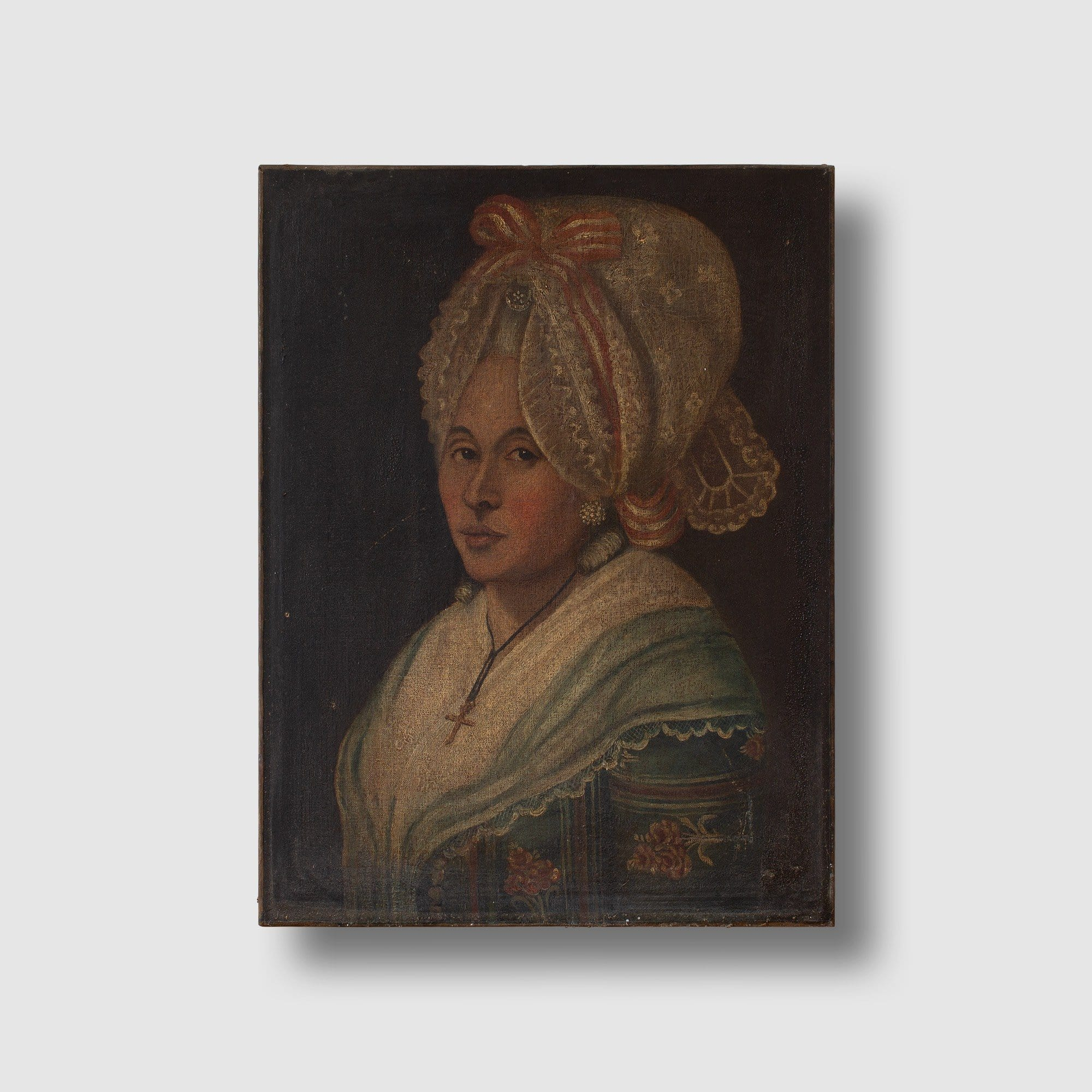 18th-Century French School Portrait Of A Lady with A Bonnet