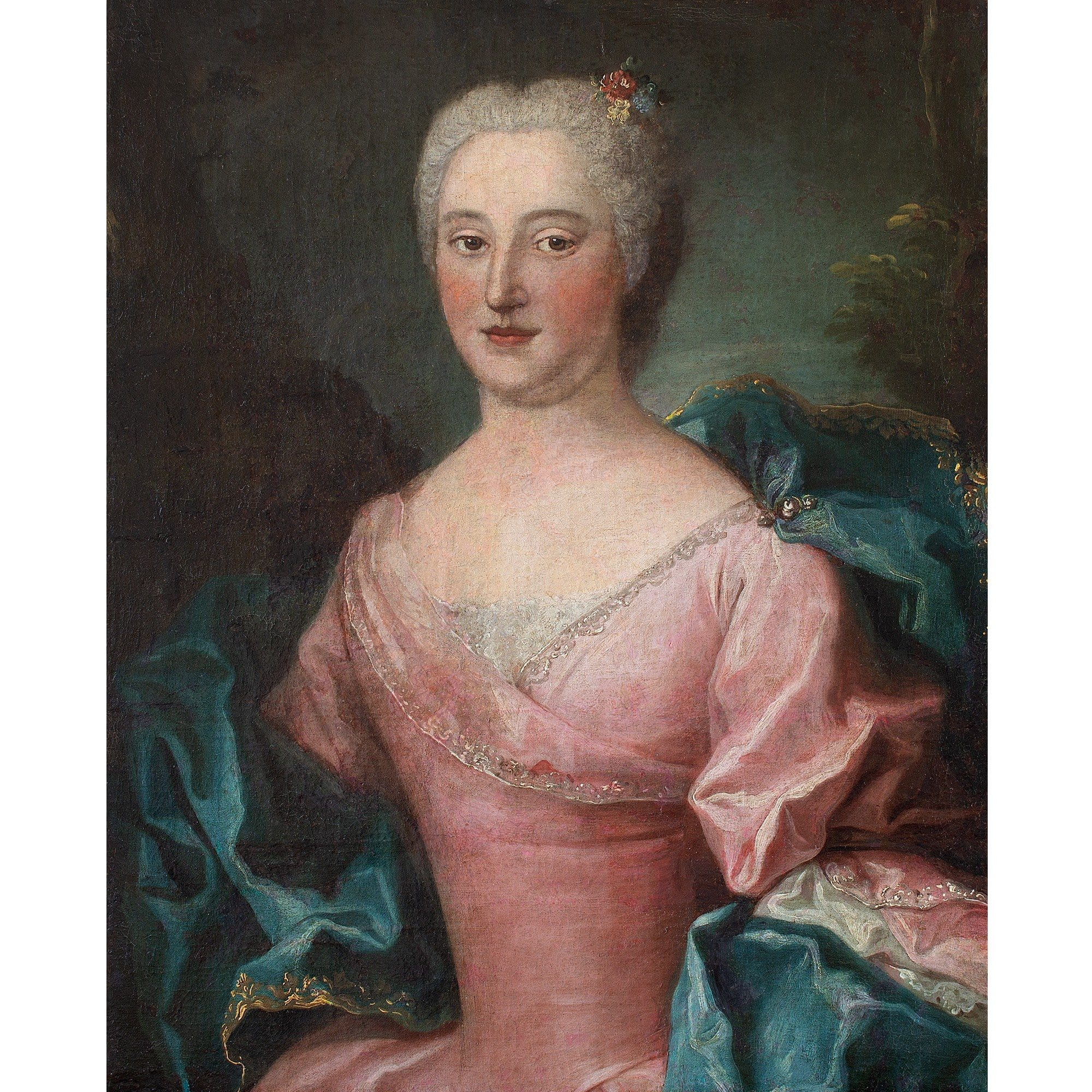18th-Century French School Portrait Of A Lady In Pink