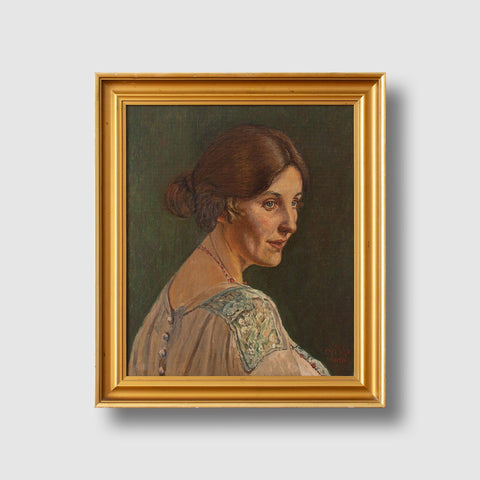 Danish School, 1920s Portrait Of A Lady