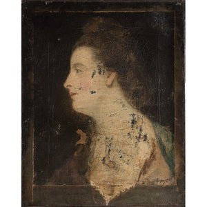 18th-Century American School Portrait Of A Lady In Profile - Original Framed Painting - Antique Art - Brave Fine Art