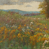 Early 20th-Century German School Impressionistic Landscape With Cart