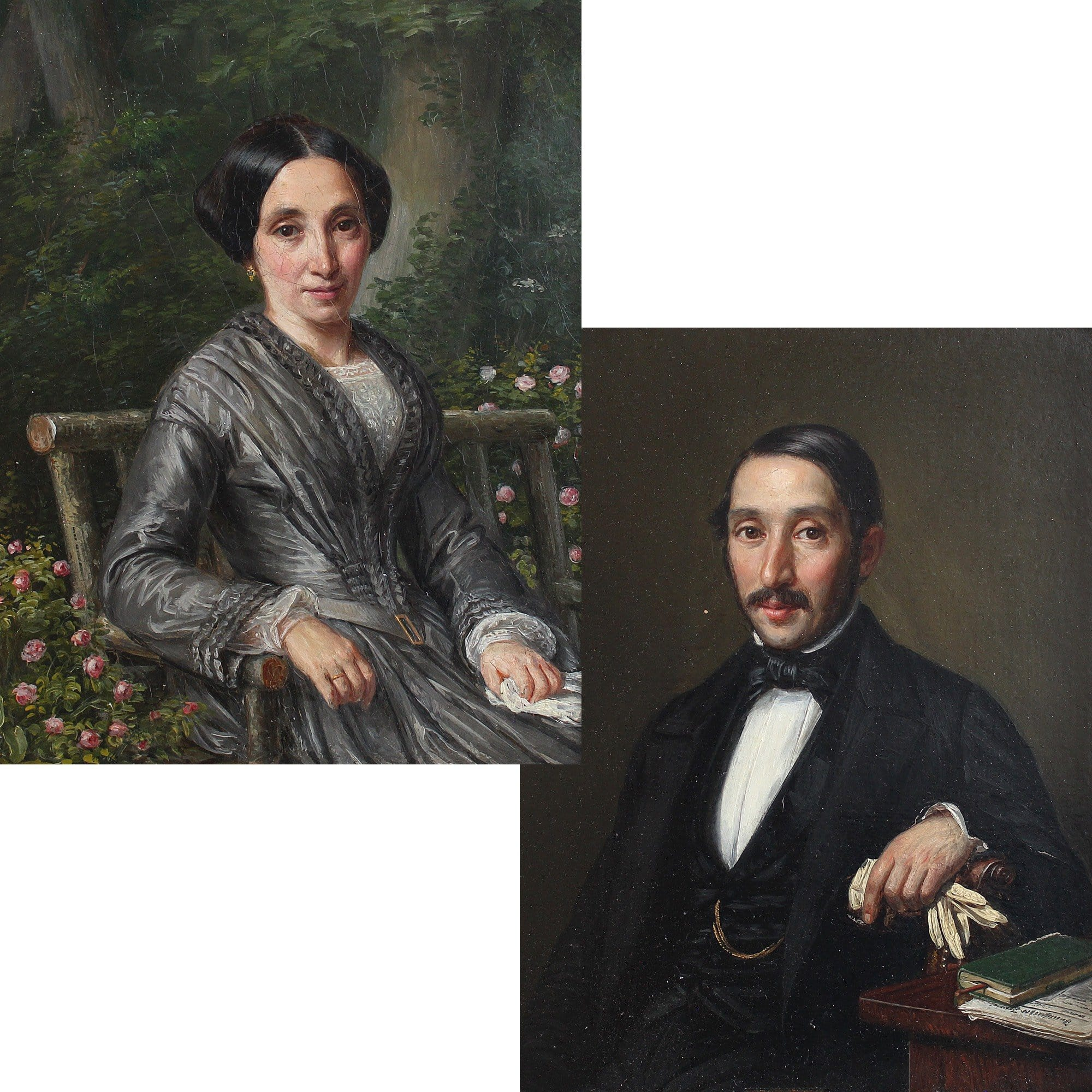 Pair Of Mid-19th Century French Portraits