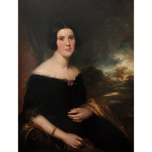 Attr. George Clint, Portrait Of Lydia Augusta Allen - Original Framed Painting - Antique Art - Brave Fine Art