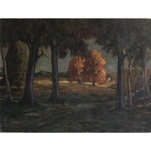 German School Dark Woods At Eventide