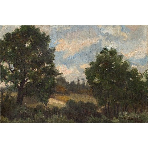 French School Impressionistic Wooded Landscape