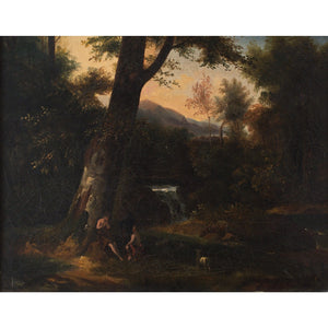 18th-Century French School Arcadian Landscape With Flute Player