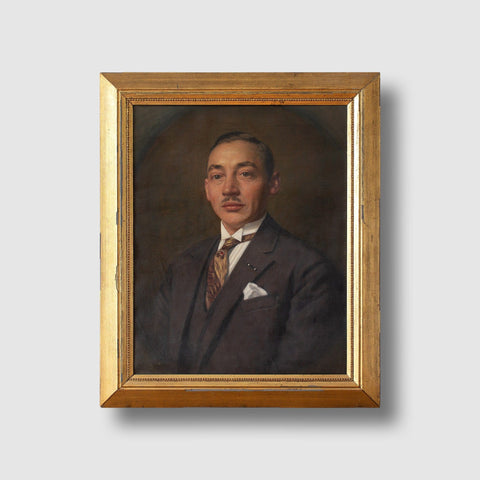 Early 20th-Century Danish School Portrait Of A Gentleman