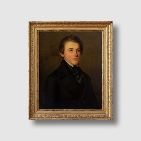 Reserved - 19th-Century German School Portrait Of A Young Gentleman