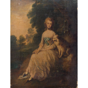 After Thomas Gainsborough, Mrs Mary Robinson - Original Framed Painting - Antique Art - Brave Fine Art