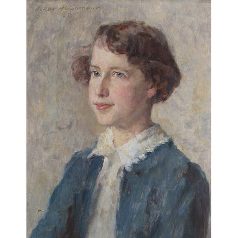 Oskar Hagemann, Portrait Of A Girl