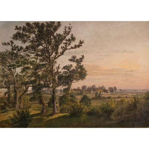 Rasmus Andersen Holm, View Across Gavnø, Zealand - Original Framed Painting - Antique Art - Brave Fine Art