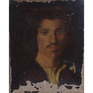 Reserved - 19th-Century Portrait Of A Man, For Nell - Original Framed Painting - Antique Art - Brave Fine Art