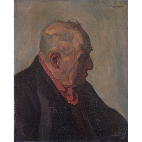 German School Portrait Of An Older Gentleman