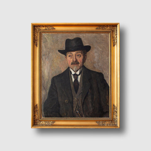 Lilli Lundsteen, Portrait Of A Gentleman With A Homburg