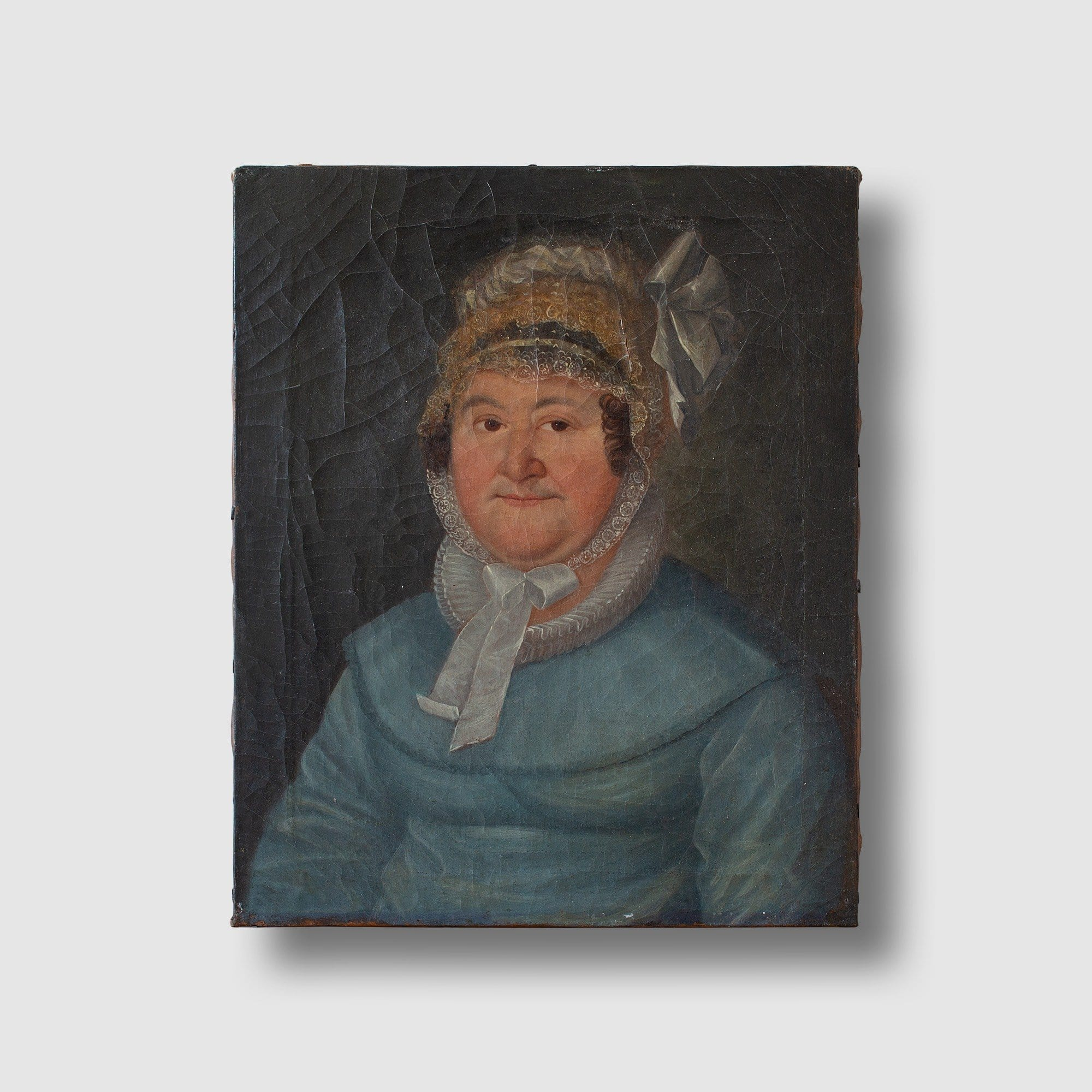 19th Century German School, Portrait Of A Lady With A Bonnet