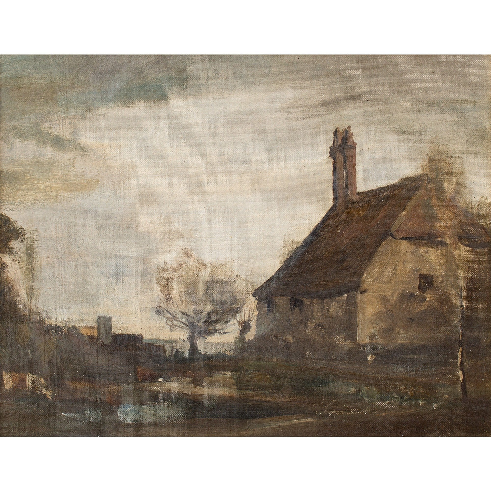 Philip Hugh Padwick, Autumnal Landscape With Cottage