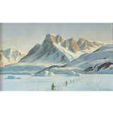 Emanuel A Petersen, Arctic Landscape With Inuit