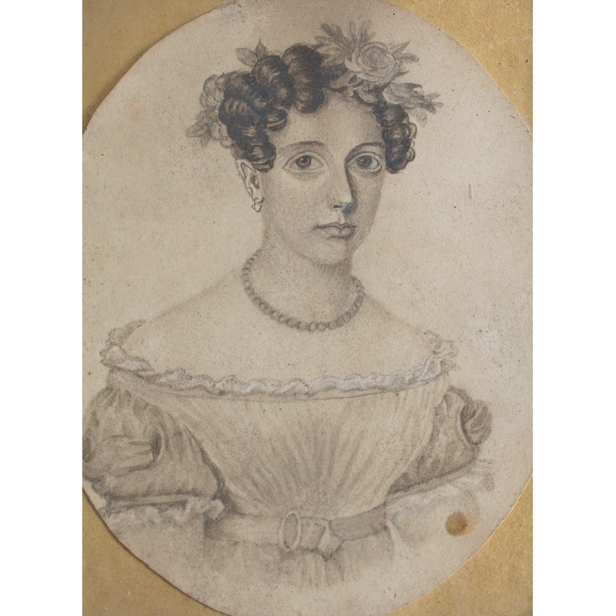 English School Miniature Portrait Of A Lady