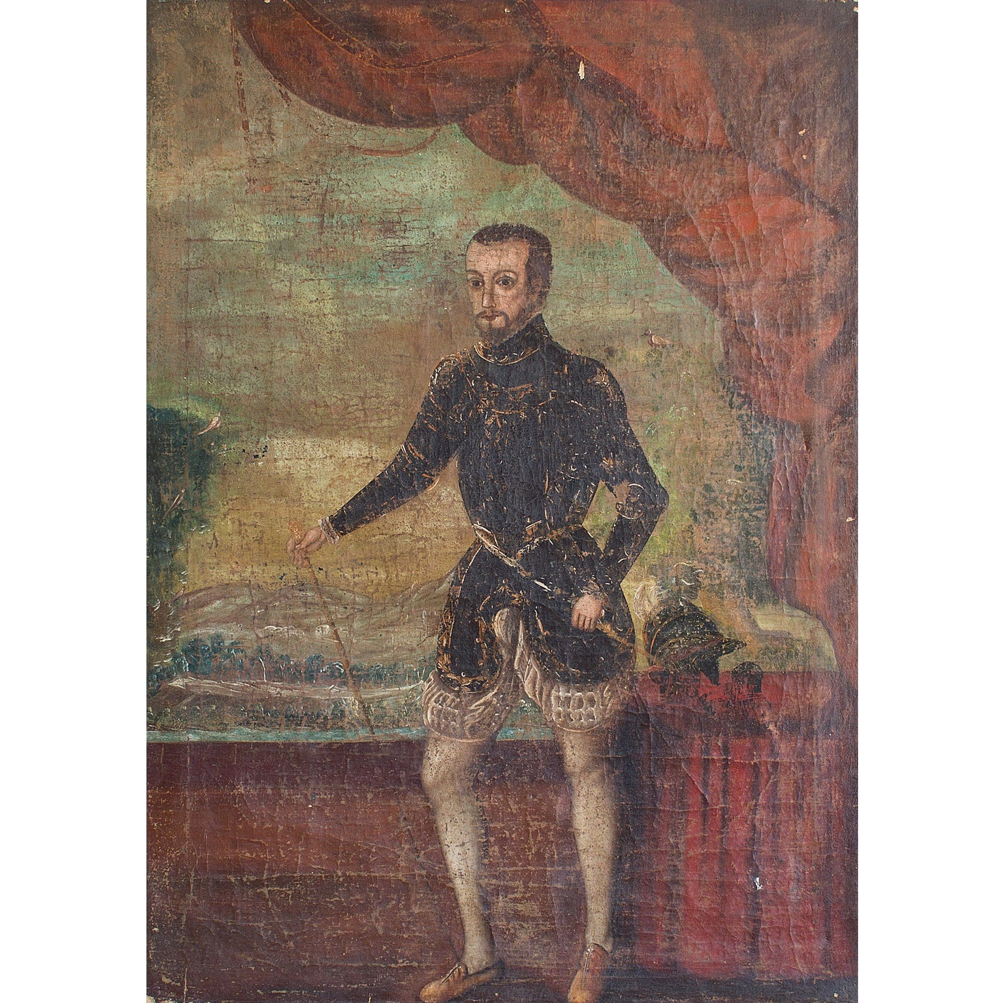 17th-Century Portrait Of A Spanish Actor - Original Framed Painting - Antique Art - Brave Fine Art