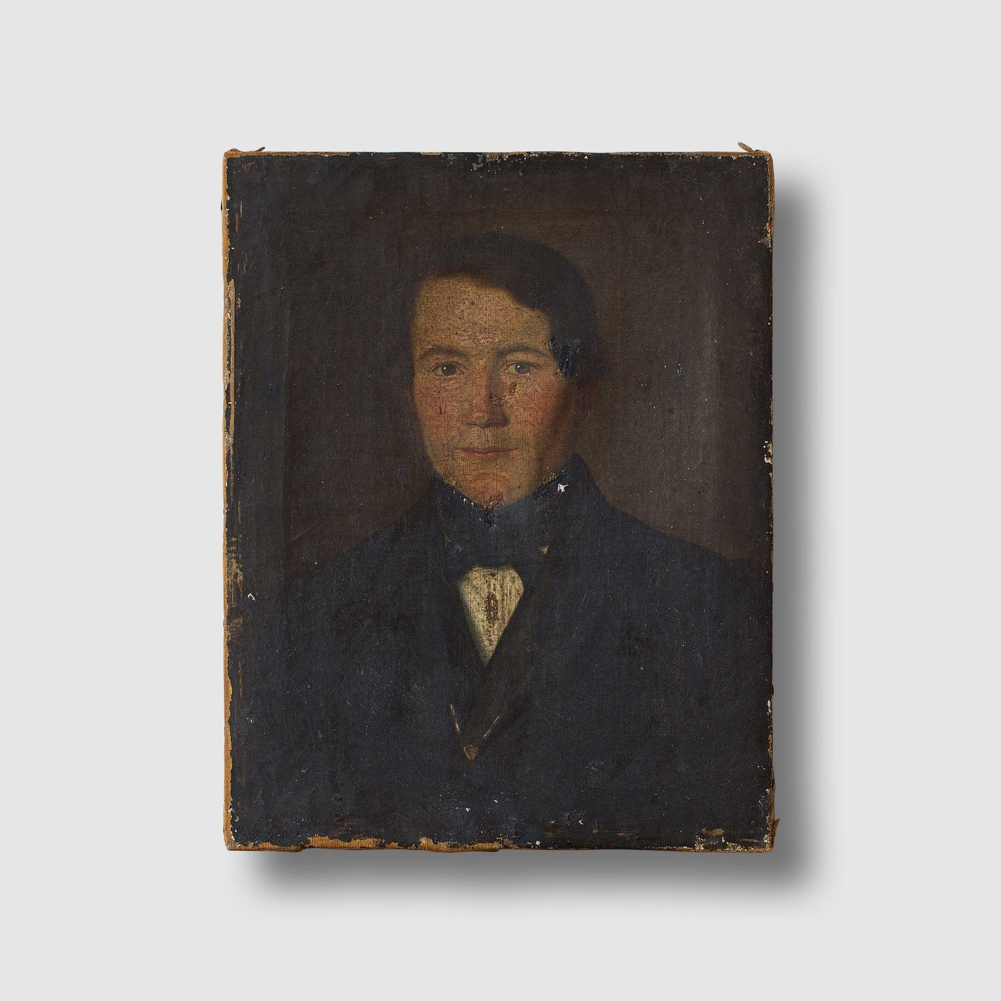 19th-Century Timeworn Portrait Of A Gentleman