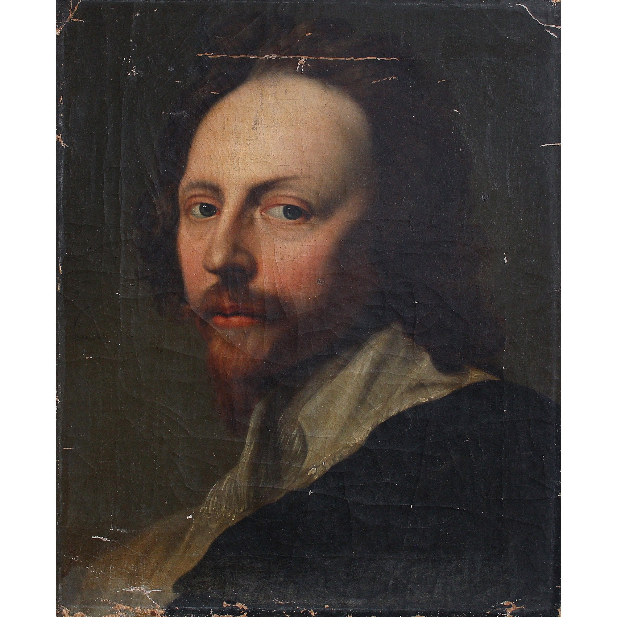 After Sir Anthony Van Dyck, Portrait Of Nicholas Lanier - Original Framed Painting - Antique Art - Brave Fine Art