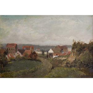 Charles Warland, Impressionist Landscape With Dwellings