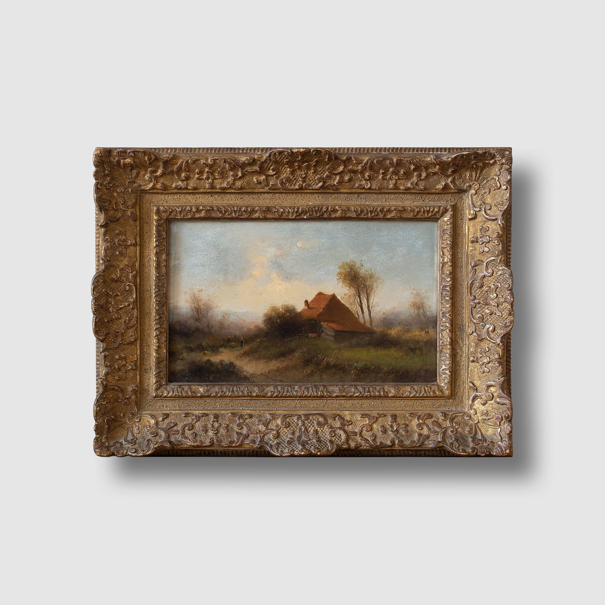 Attr. Cornelis I Westerbeek, Dutch Landscape With Track, Figure & Dwelling