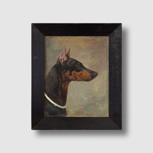 Wilhelm Westerop, Portrait Of A Doberman In Profile