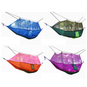 Sales Promotion Hammock Mosquito Net Double Hammock Stitching Color Lightweight Military Camping Mat