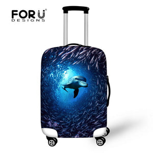 Newest Tropical Fish Luggage Protective Cover For 18-30 Inch Suitcase Elastic Travel Luggage Dust Covers Ocean Animal Cover