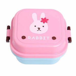 New Cute Cartoon Lunch Box Food Container Storage Portable Bento Spoon School