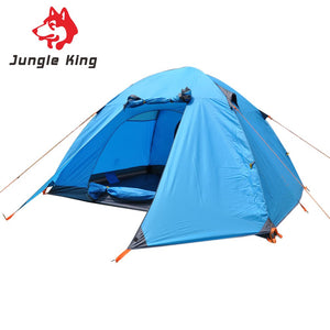 Outdoors Double Layer Camping Tent 6 Person Aluminum Rod For Outdoor Hiking Fishing climb Picnic Beach Tent Rainproof Waterproof