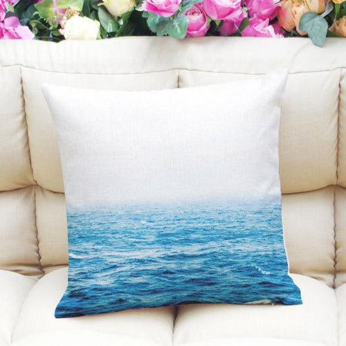 Ocean horizon pillow case