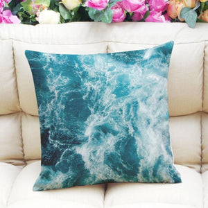 Ocean waves pillow case