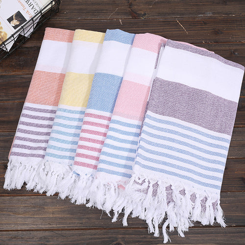 Turkish Beach or Bath Towels 100% Cotton 180cm/6ft Stripped