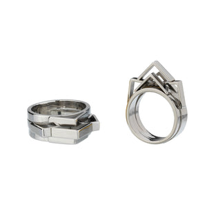 Constellations, celestial ring palladium plated
