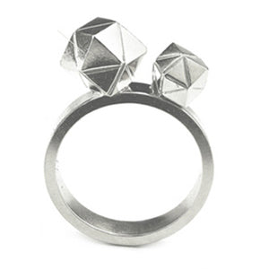 Element, Meteorite Collision Ring solid silver