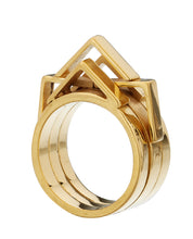Constellations, celestial ring gold plate
